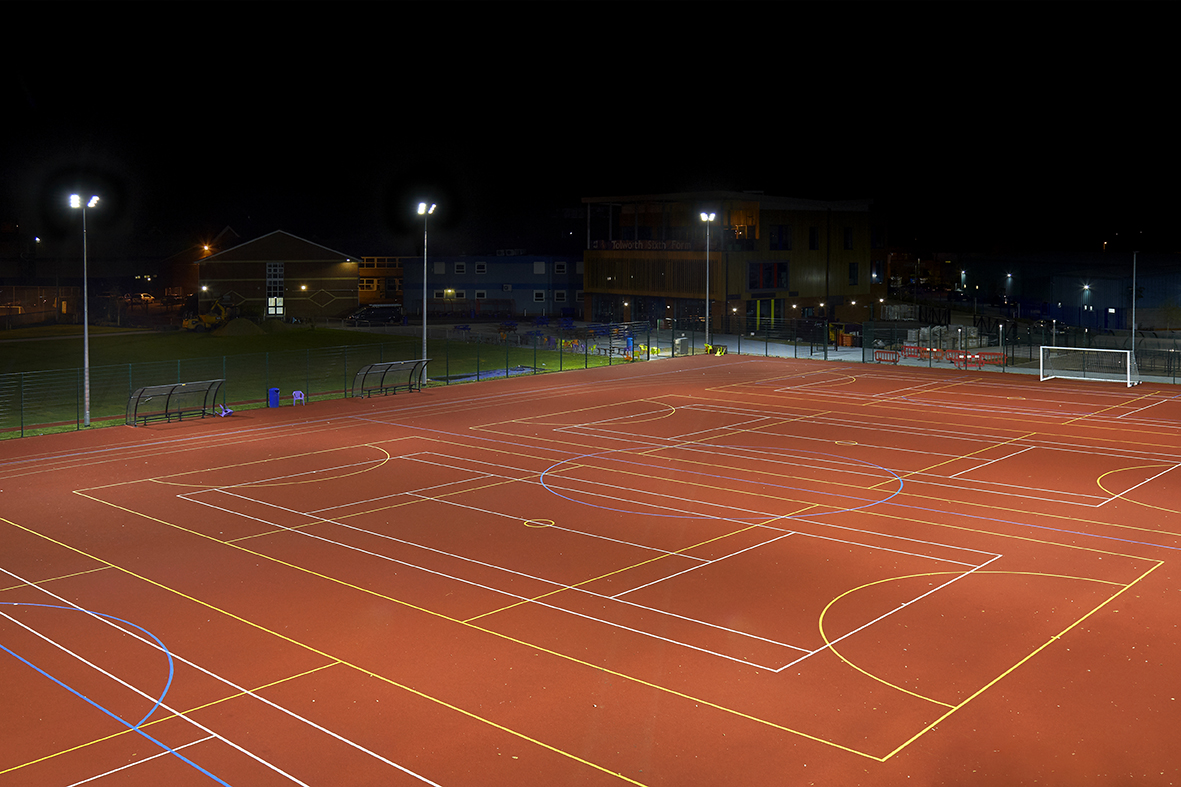 Tolworth Girls School - Midstream Lighting Sports Case Study