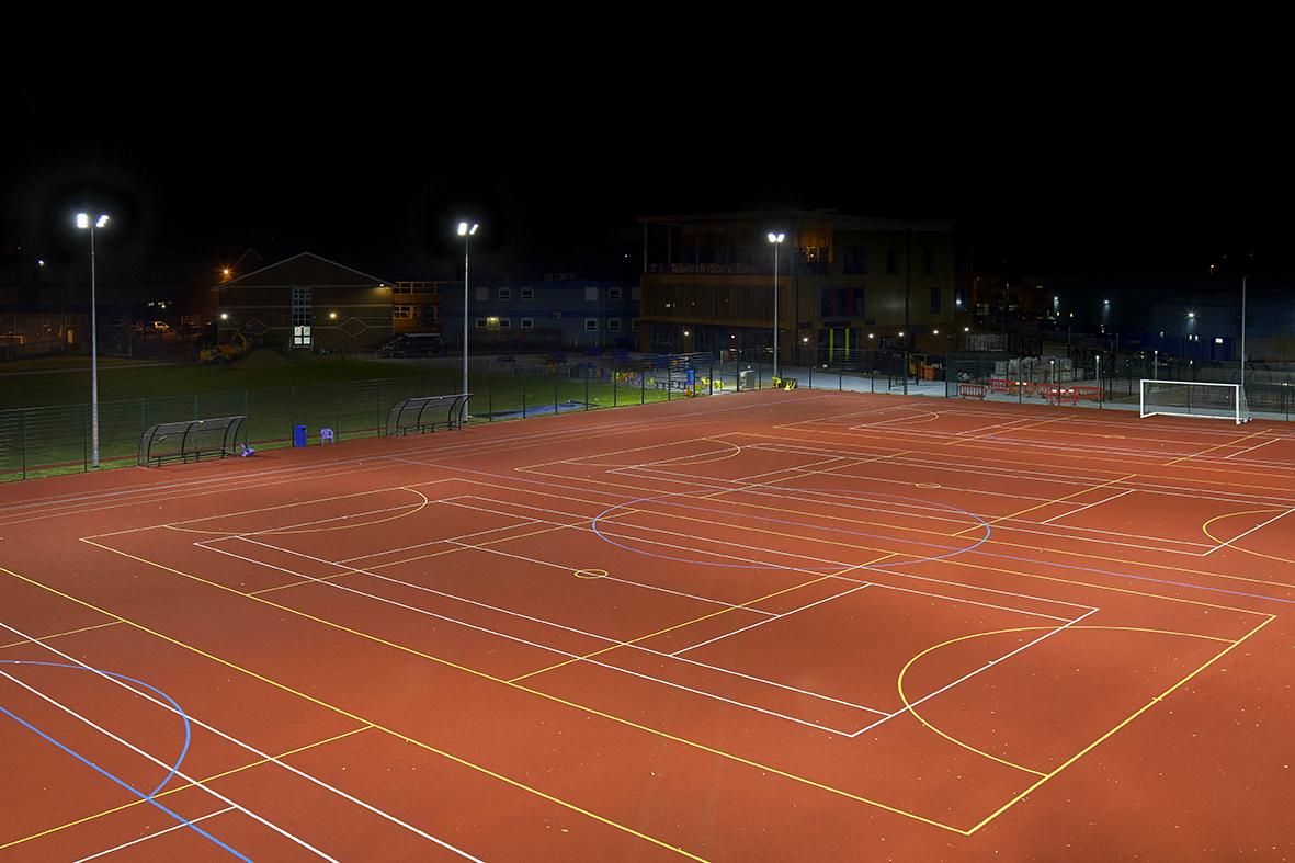 Tolworth Girls School, Sports Lighting Case Study