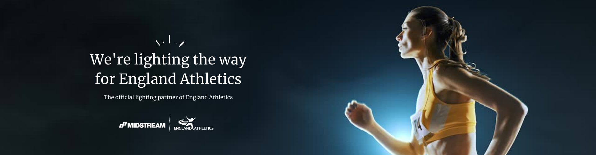 The Official Lighting Partner of England Athletics